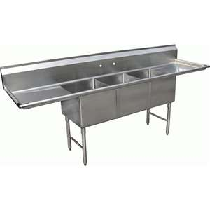 3 Compartment Bakery Sink Sh20283d Kitchen Of Glam